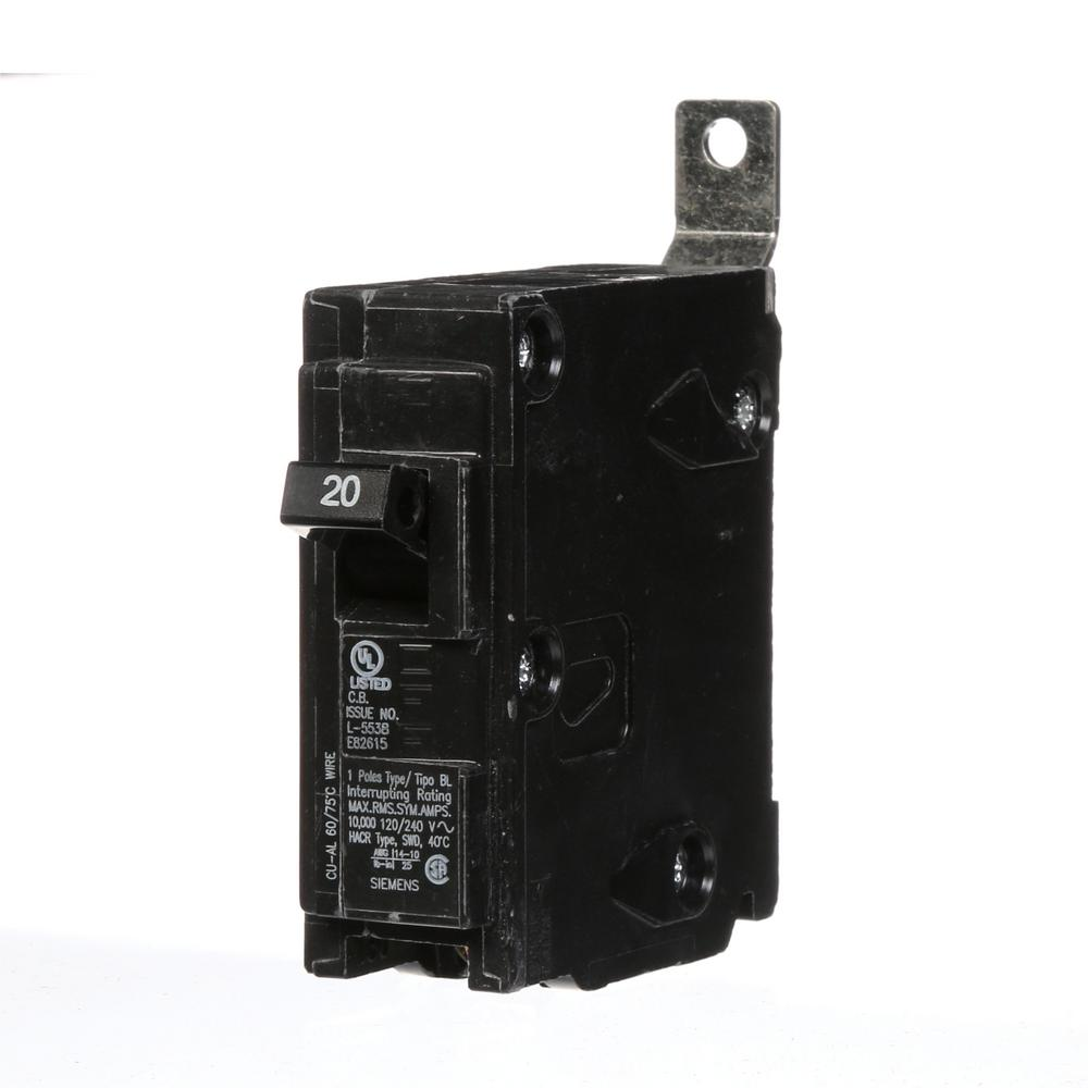 medium resolution of 20 amp single pole type bl bolt on circuit breaker