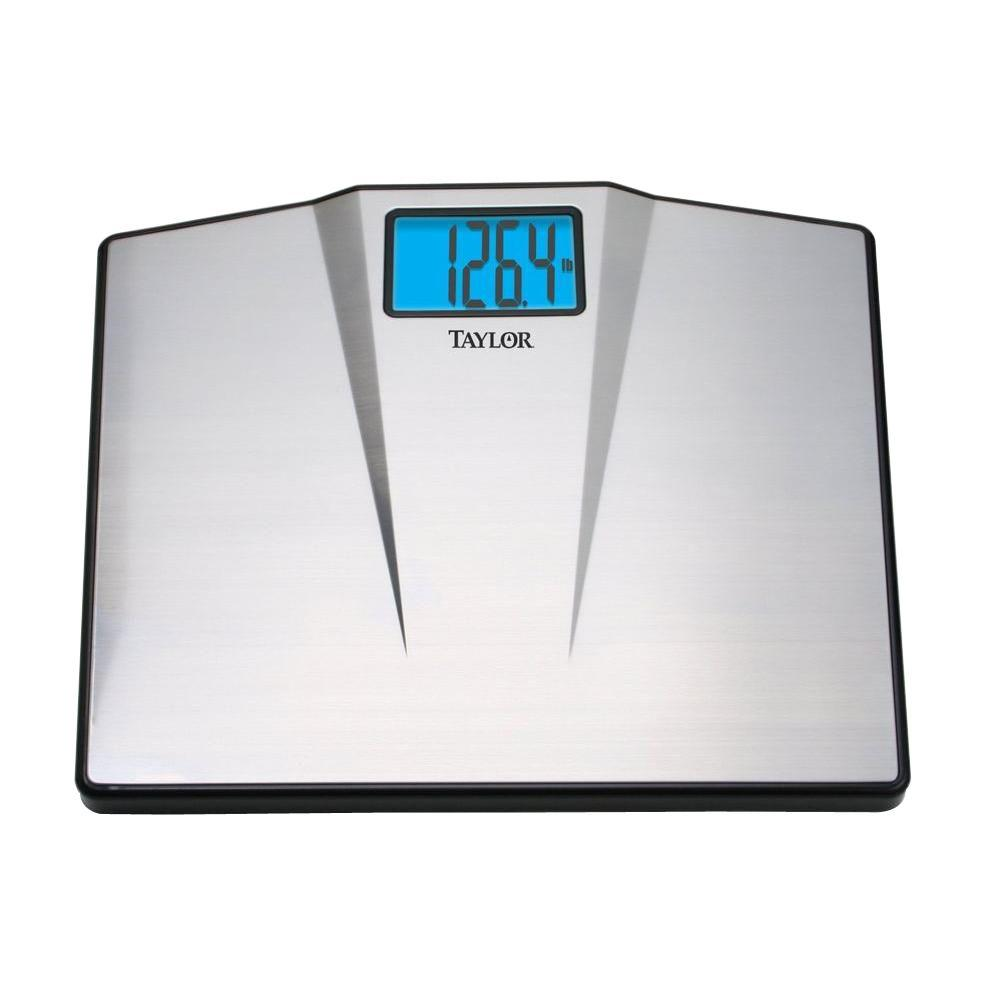 Biggest Loser Digital High Capacity Bath Scale in Silver7410  The Home Depot
