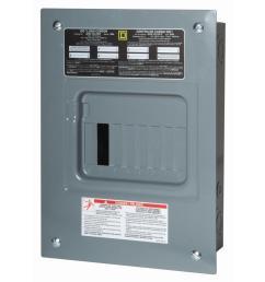 square d qo 100 amp 6 space 12 circuit indoor main lug load center [ 1000 x 1000 Pixel ]