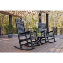 Trex Outdoor Furniture Yacht Club Charcoal Black 3-piece