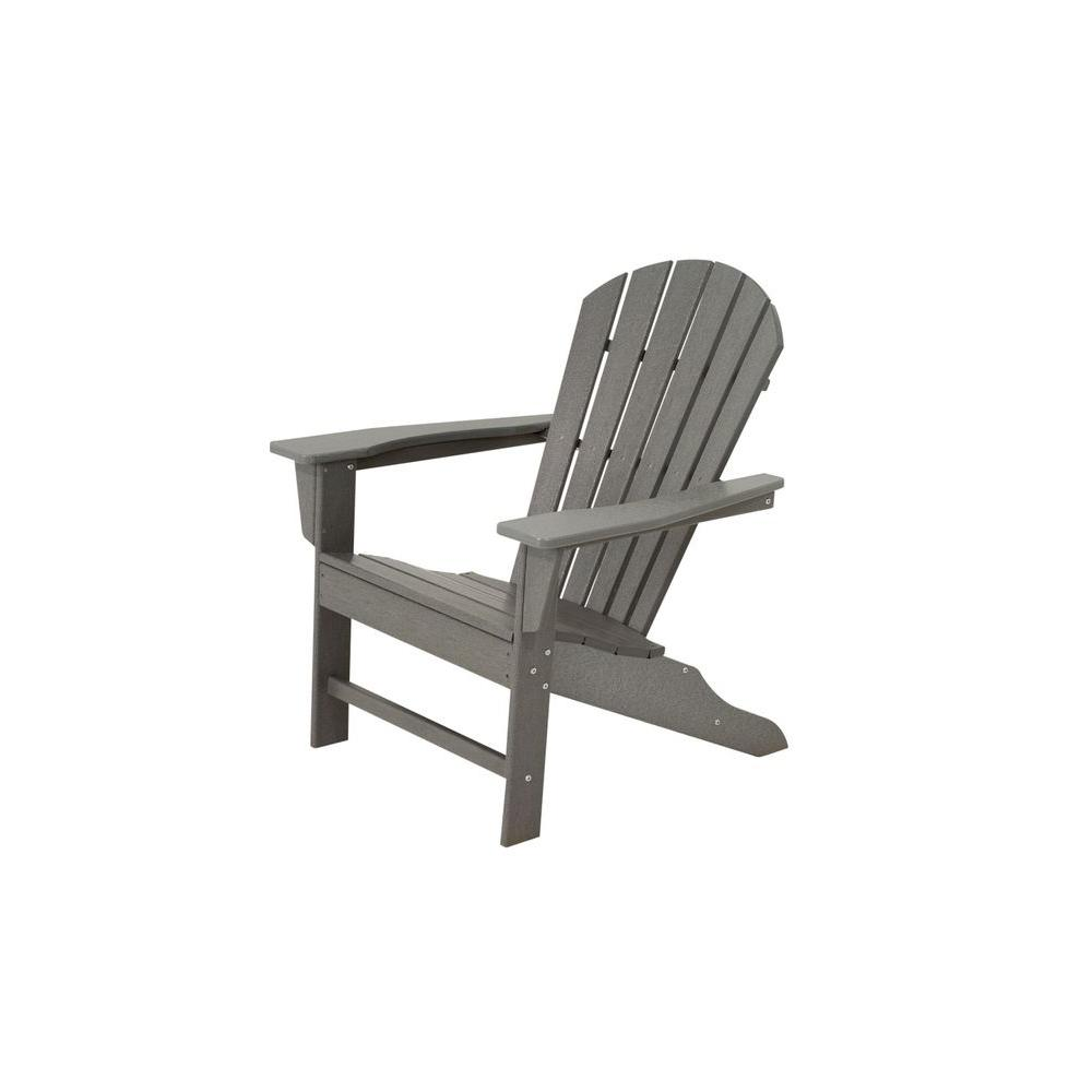 polywood adirondack chairs dining chair covers dunelm south beach slate grey plastic patio sba15gy the home depot