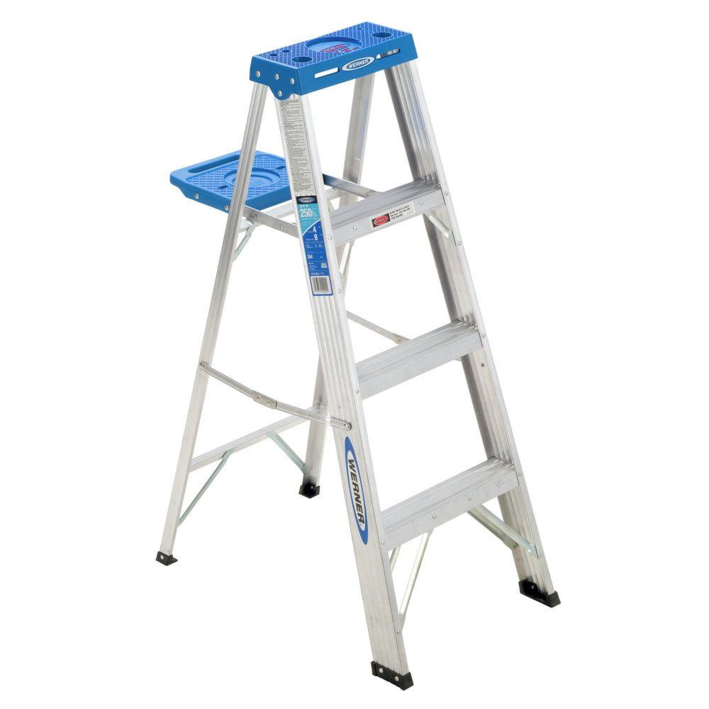 Werner 4 ft. Aluminum Step Ladder with 250 lbs. Load