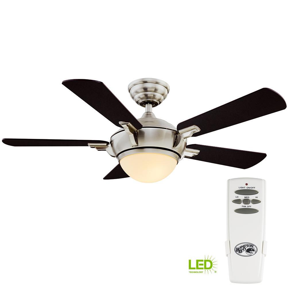 hight resolution of hampton bay midili 44 in led indoor brushed nickel ceiling fan with light kit and