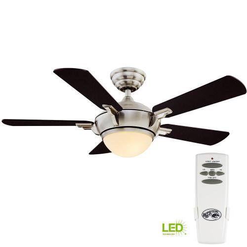 small resolution of hampton bay midili 44 in led indoor brushed nickel ceiling fan with light kit and