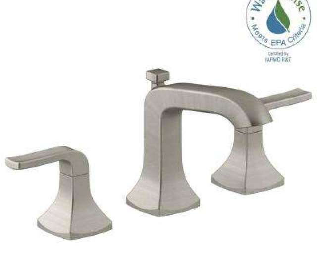 Widespread  Handle Bathroom Faucet In Vibrant Brushed Nickel