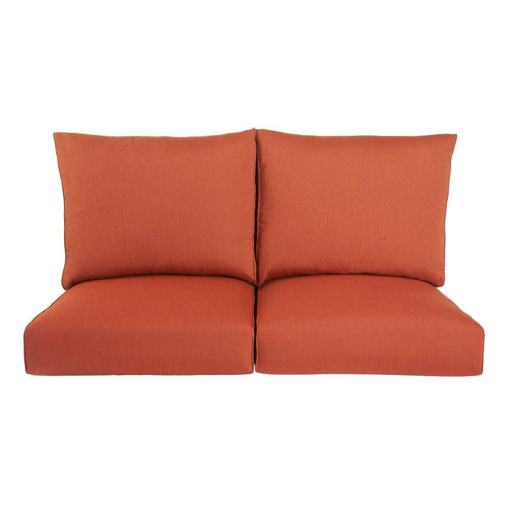 replacement cushions for sleeper sofa upholstery service dubai brown jordan highland outdoor loveseat cushion in cinnabar