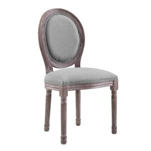 chair with light storing banquet covers modway array gray vintage french upholstered dining side emanate fabric