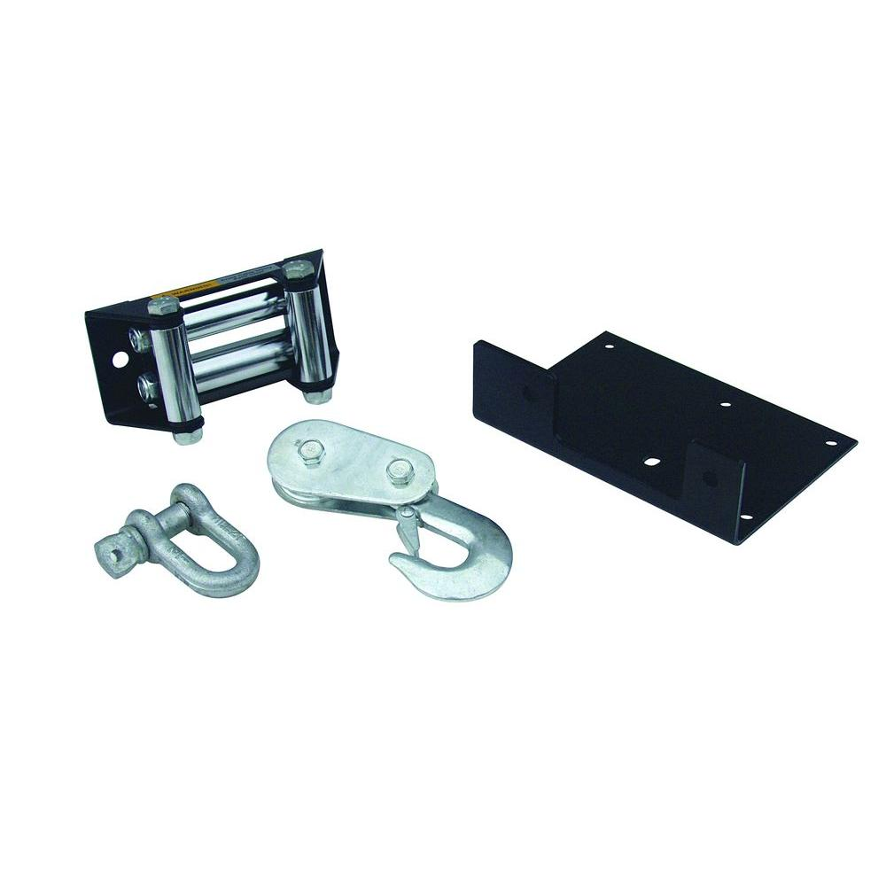 medium resolution of superwinch lt2000 atv winch accessory upgrade kit with mounting plate roller fairlead pulley block