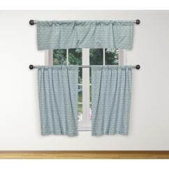 Blue Kitchen Valance Black Round Table Duck River Tate In White 15 W X 58 L