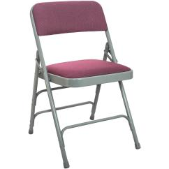 Folding Chair Fabric Rubber Pads Advantage 1 In Burgundy Seat With Grey Padded Metal Dpi903f Gb The Home Depot