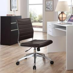 Chair Design Course Snap On High Modway Jive Armless Mid Back Office In Brown Eei 1525 Brn