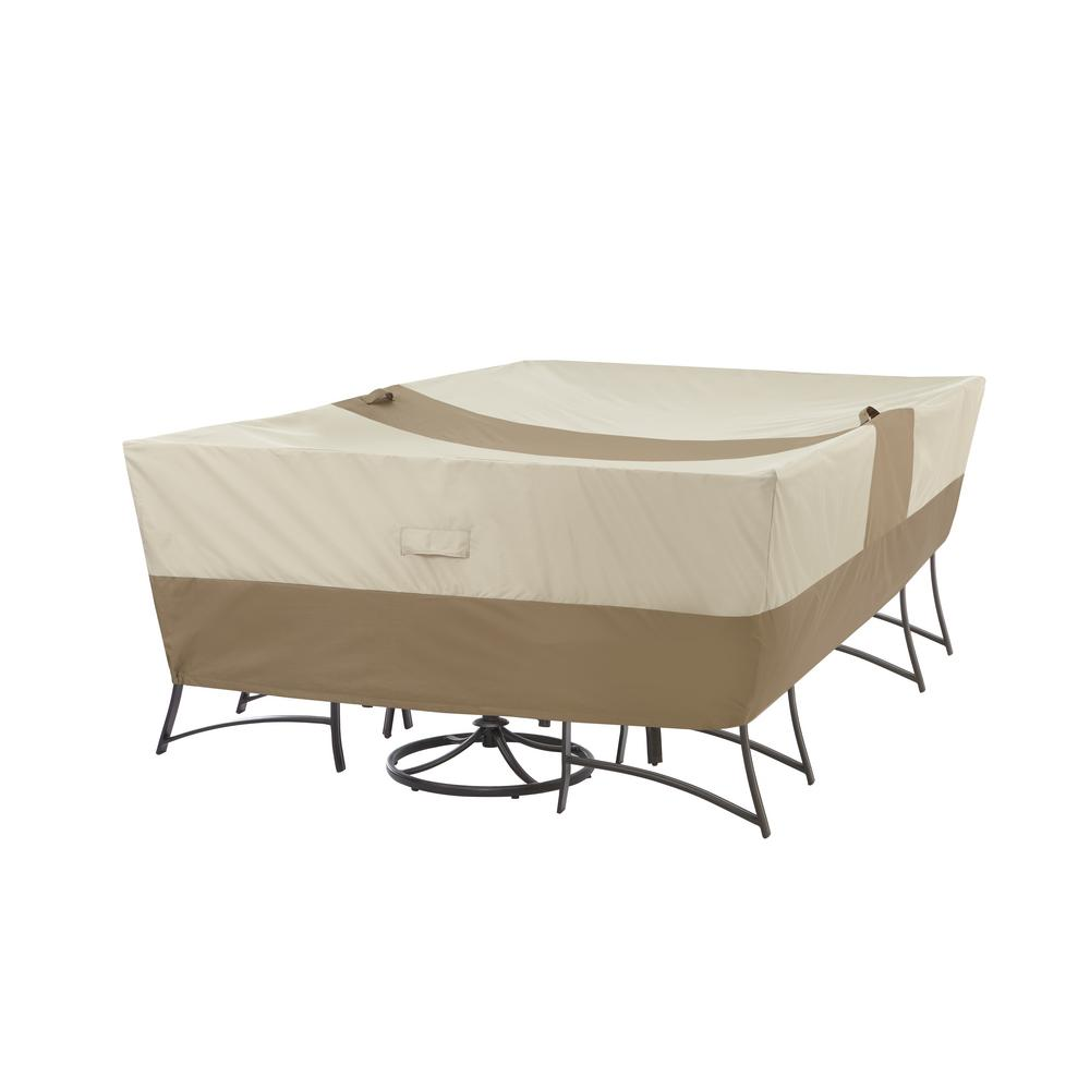 Hampton Bay Patio Rectangular Table with Chair Cover