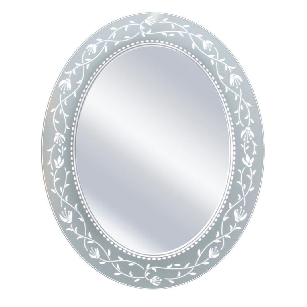Bathroom Mirror Fushcia Oval X Frameless 23 29 Decor