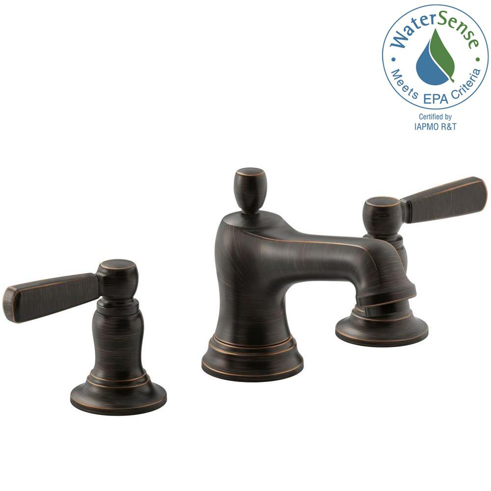 Bronze  Widespread Bathroom Sink Faucets  Bathroom Sink