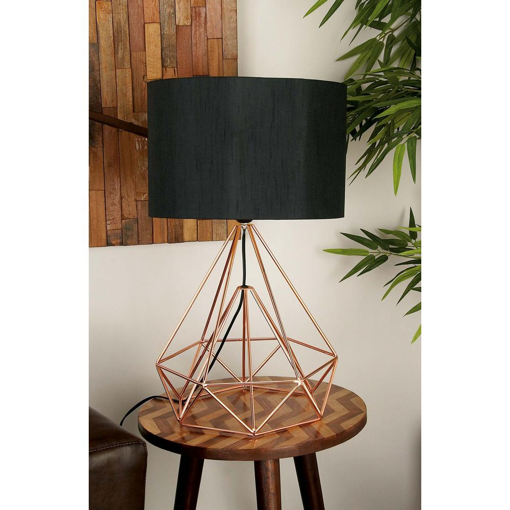 medium resolution of litton lane 15 in x 26 in modern drum type metal wire table lamp light socket wiring diagram wiring a lamp table