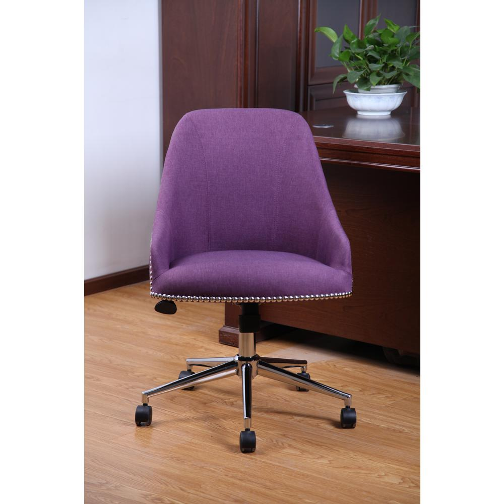lilac office chair metal chaise lounge chairs with wheels boss peacock blue carnegie desk b516c pb the home depot this review is from purple
