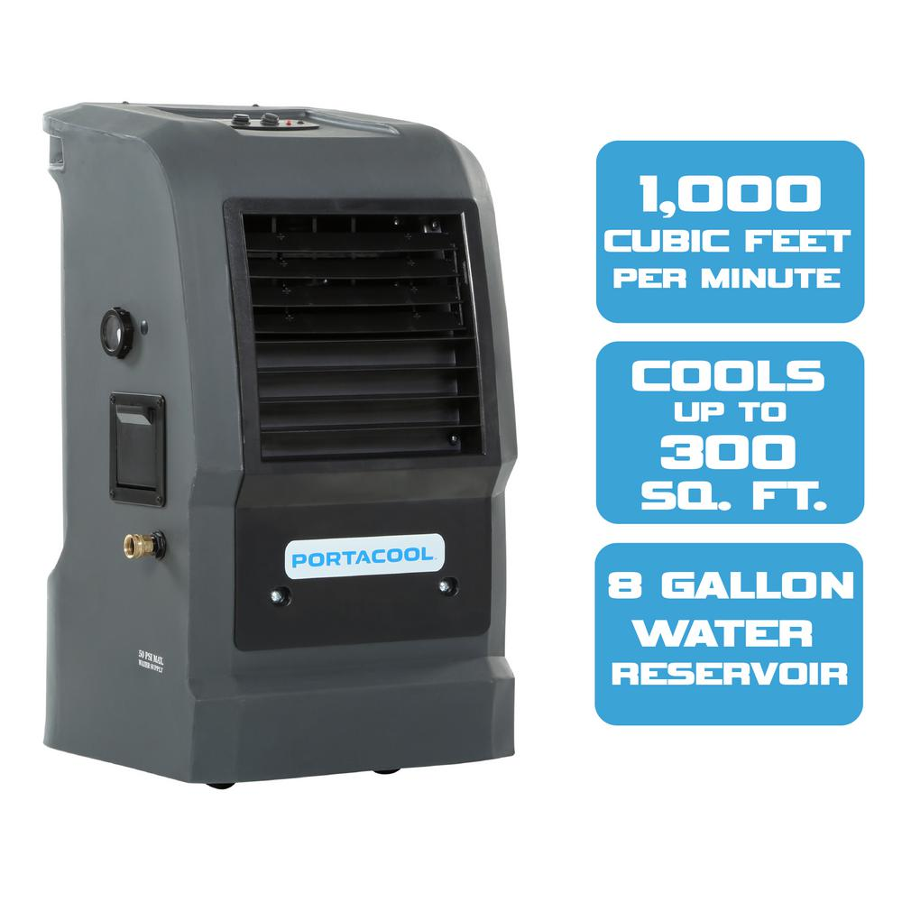 hight resolution of portacool cyclone 110 1000 cfm 2 speed portable evaporative cooler for 300 sq ft