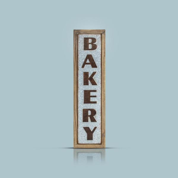 Crystal Art Bakery Wood Metal Sign Wall Decor