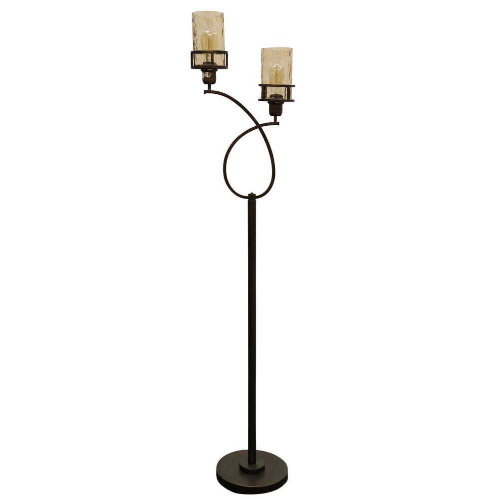 medium resolution of stylecraft 68 in bronze floor lamp with amber glass shade l74001ds wiring