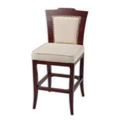 Chair Bed Stool Fishing Kayak Fashion Group 30 In Springfield Wood Bar With Nailhead Trimmed Oatmeal Upholstered Seat And Merlot Finished Frame