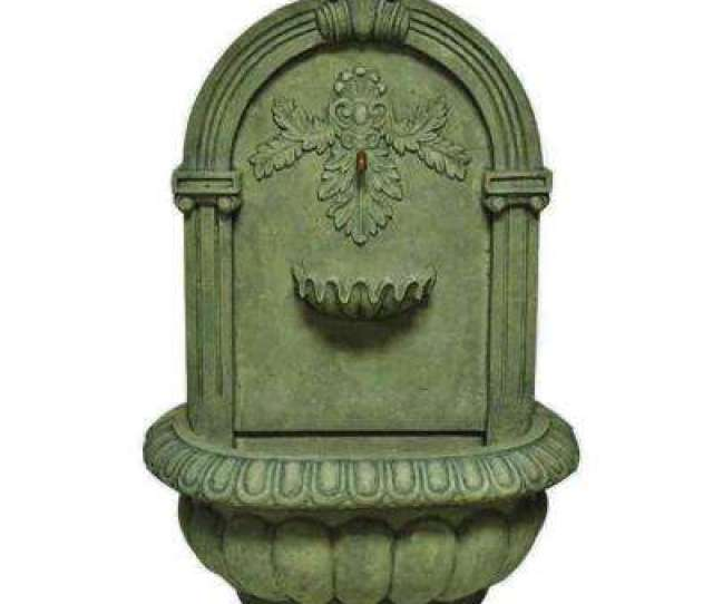 H Wall Fountain In Old Stone Finish