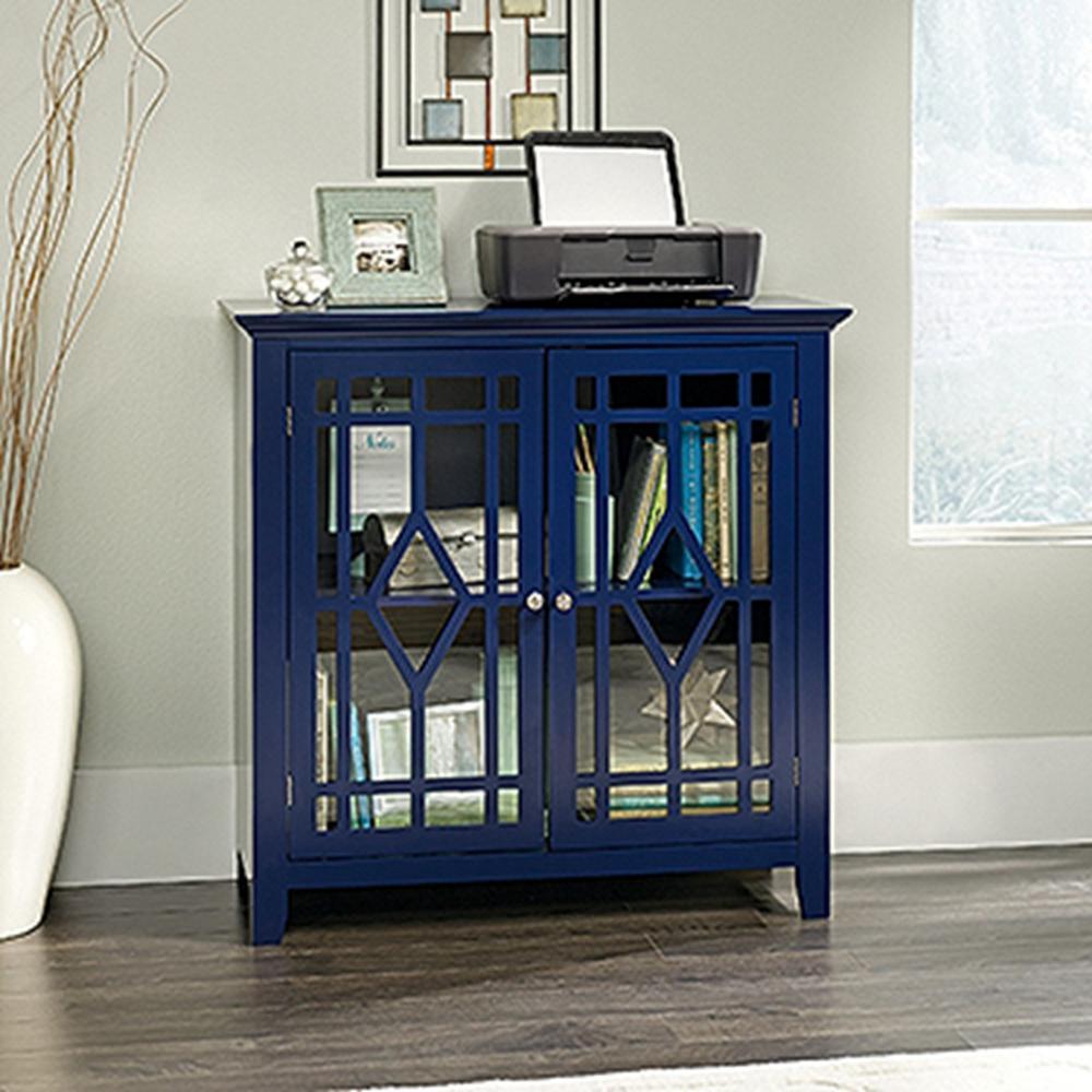 SAUDER Shoal Creek Indigo Blue Accent Storage Cabinet