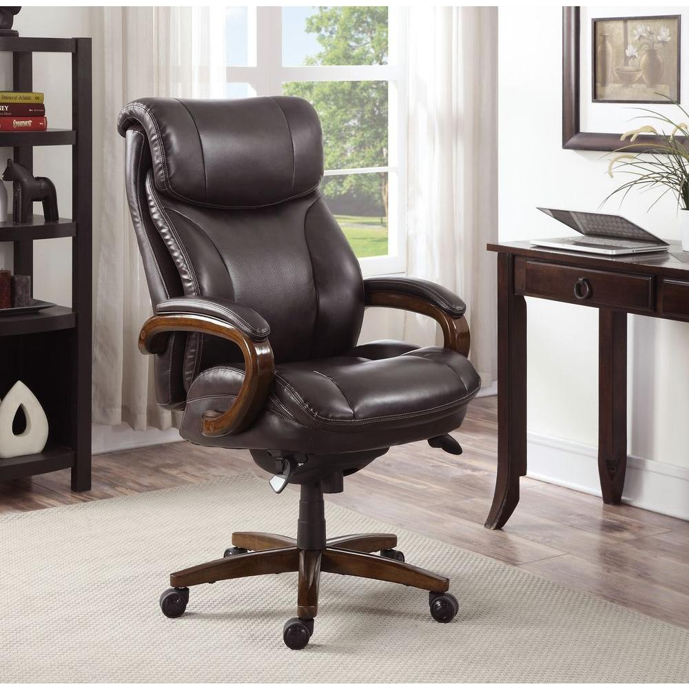 la z boy big man chair hickory king size bed tafford vino bonded leather executive office 45782