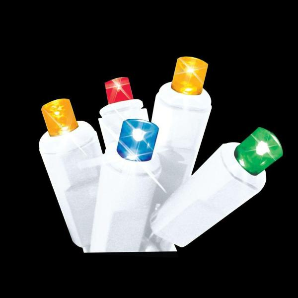 Brite Star 60-light Led Multi-color Twinkling Icicle Lights-39-755-00 - Home Depot