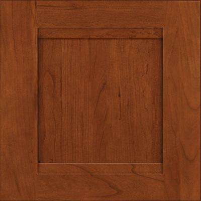 chocolate kitchen cabinets square sink the home depot cabinet door sample in sonora cherry