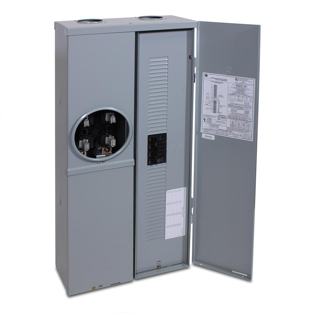medium resolution of ge power mark gold 200 amp main breaker 20 space 40 circuit overhead underground combination meter socket load center