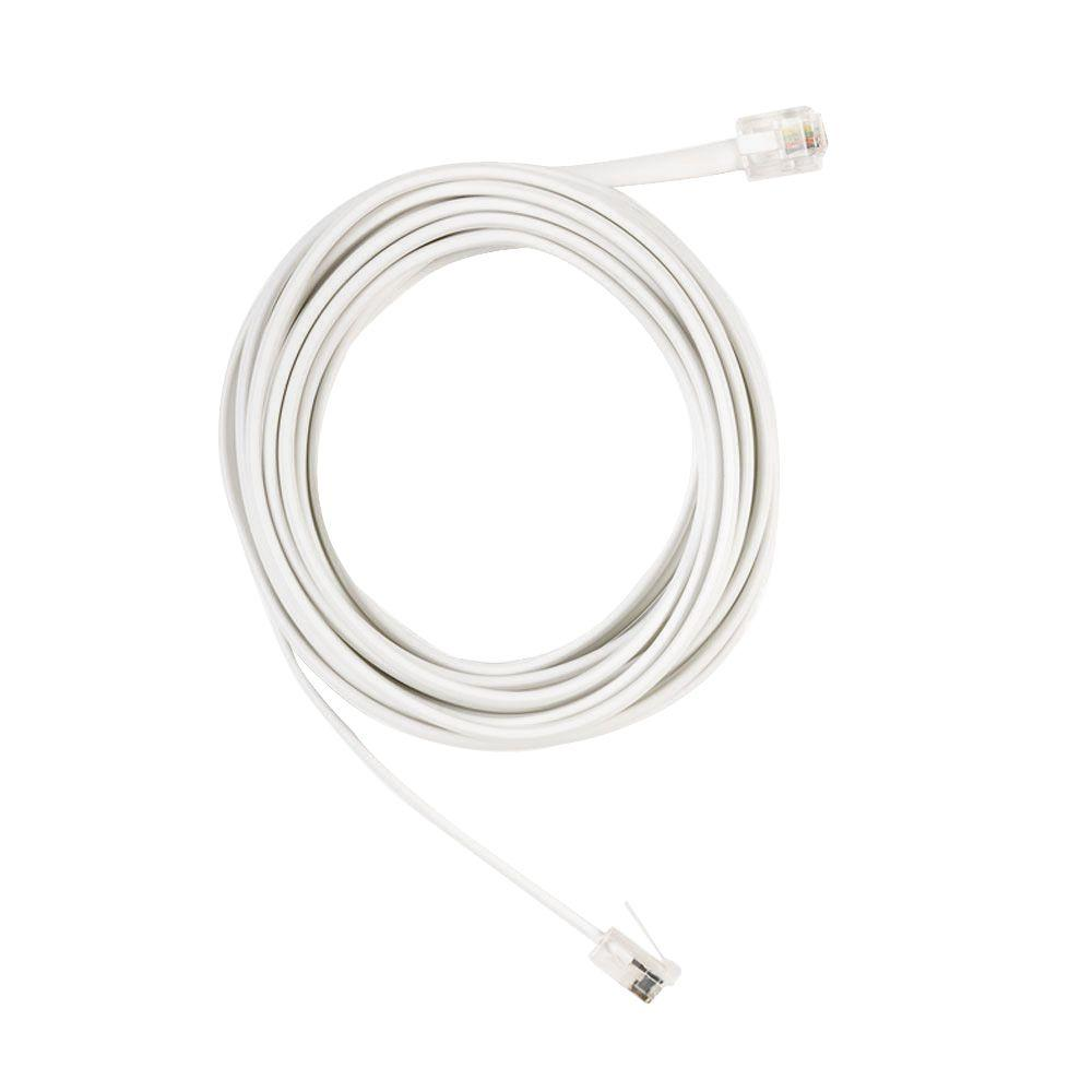 hight resolution of 12 ft telephone line cord white