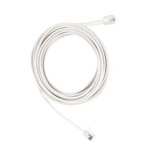 small resolution of 12 ft telephone line cord white