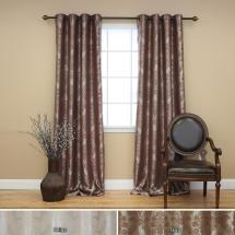 Home Fashion 96 In. L Chocolate Blackout Damask