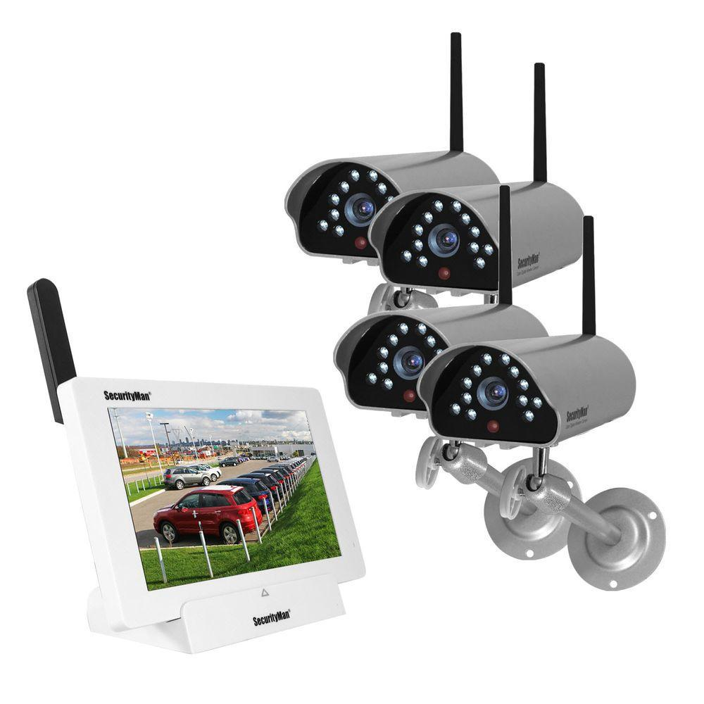 medium resolution of isecurity 4 channel 480tvl digital wireless indoor outdoor 4 cameras system