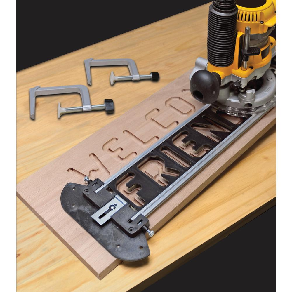Milescraft Sign Pro Sign Making Jig Set For Routers