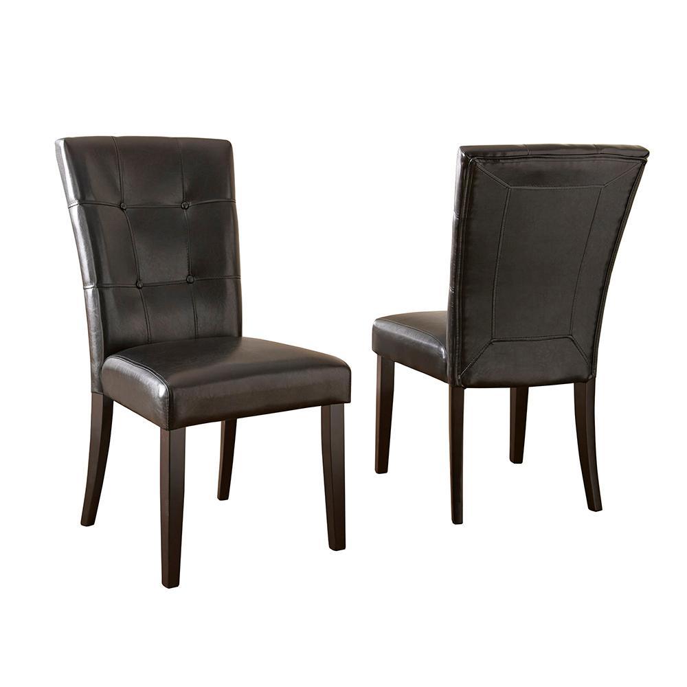 black parsons chair bjs office chairs steve silver company monarch set of 2 mc500s