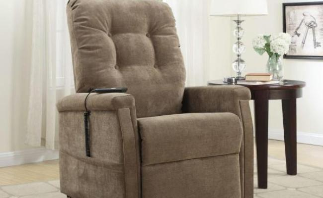 Pri Brown Fabric Power Lift Recliner Ds 1667 016 051 The