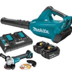 makita 18 volt x2 36 volt lxt li ion brushless cordless blower kit 5 [ 1000 x 1000 Pixel ]