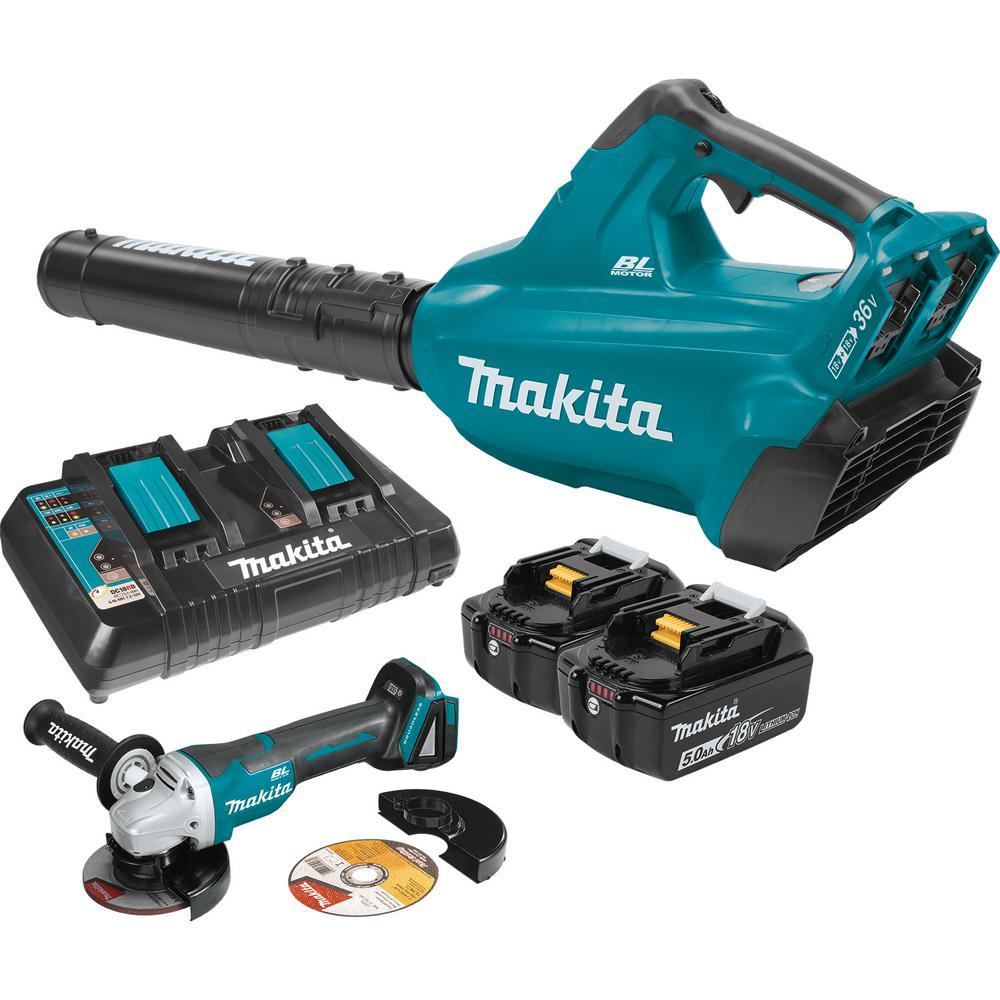 medium resolution of makita 18 volt x2 36 volt lxt li ion brushless cordless blower kit 5