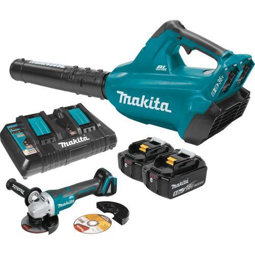 small resolution of makita 18 volt x2 36 volt lxt li ion brushless cordless blower kit 5