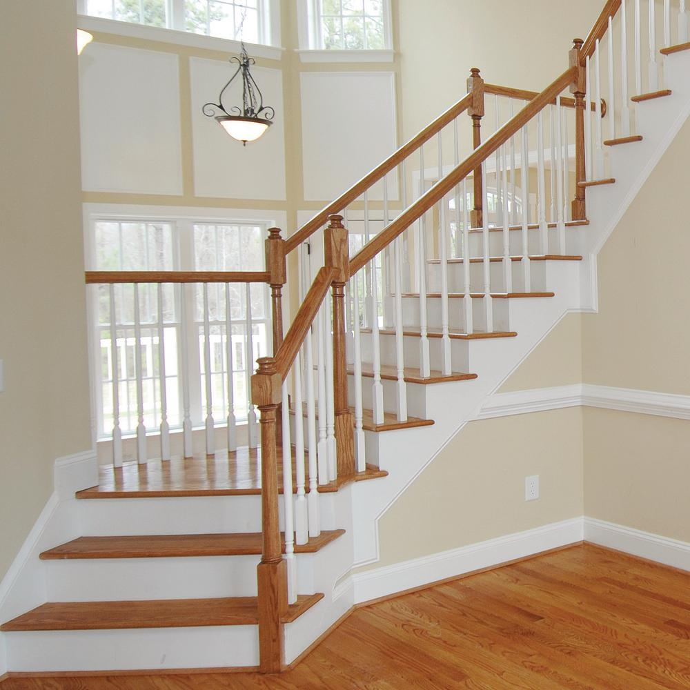 Stair Parts 6010 14 Ft Unfinished Red Oak Stair Handrail 6010R | Oak Handrails For Stairs Interior | Glass | Stair Treads | Oak Pointe | Wooden | Stair Parts