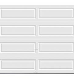 classic collection 8 ft x 7 ft non insulated solid white garage door [ 1000 x 1000 Pixel ]