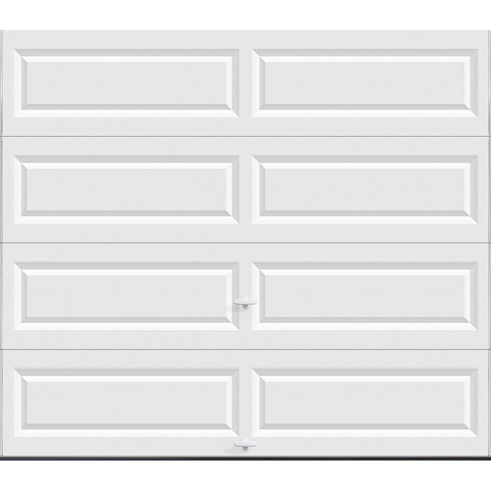 hight resolution of classic collection 8 ft x 7 ft non insulated solid white garage door