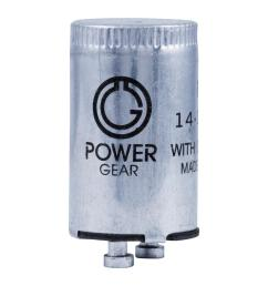 power gear fluorescent starter fs 2 2 pack  [ 1000 x 1000 Pixel ]
