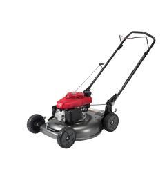 gas push walk behind manual side discharge lawn push mower [ 1000 x 1000 Pixel ]