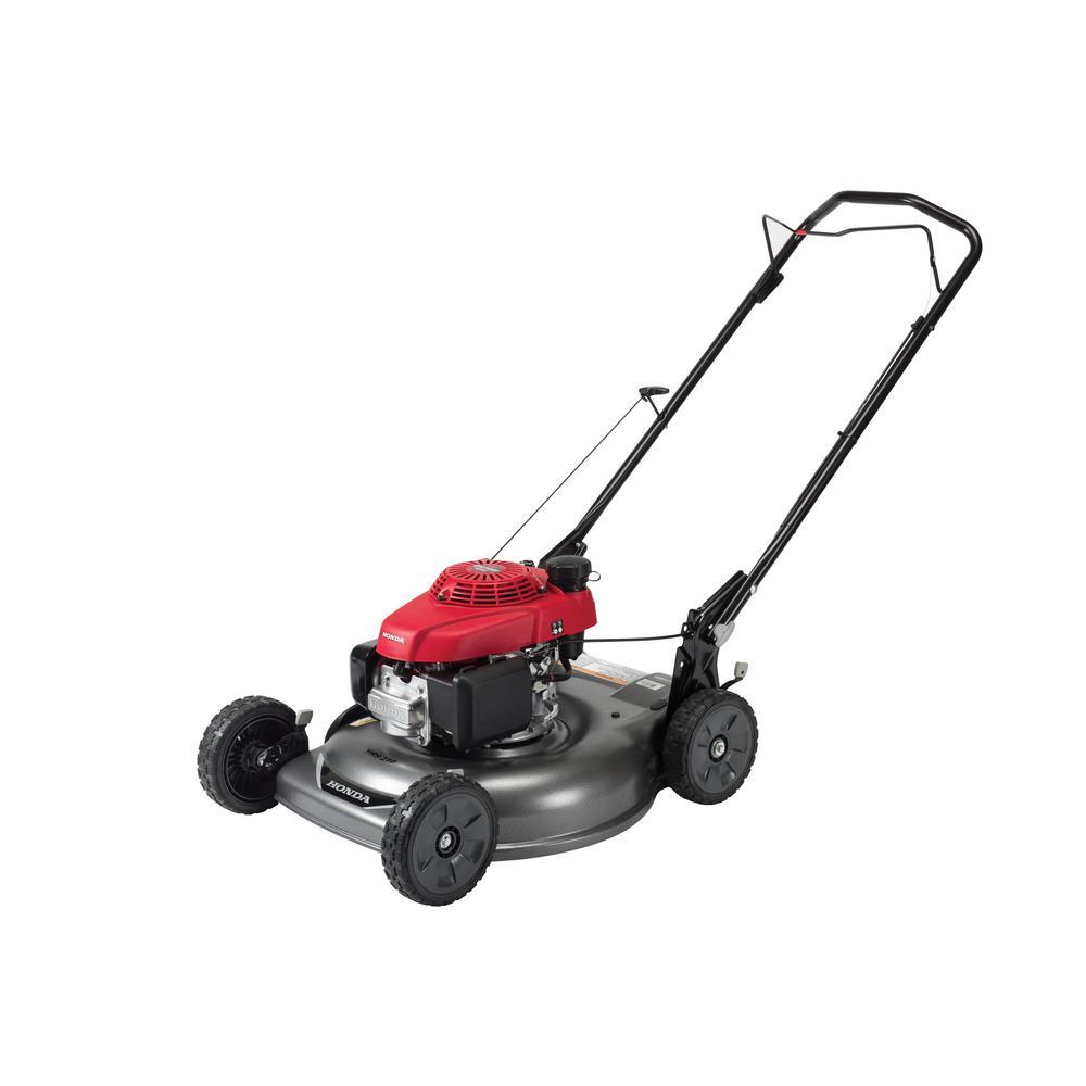 medium resolution of gas push walk behind manual side discharge lawn push mower