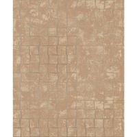 Brewster Cubist Copper Geometric Wallpaper Sample-2683 ...