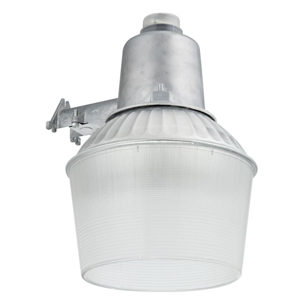 hight resolution of 150 watt 1 light gray outdoor area light with dusk to dawn photocell