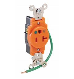 20 amp hospital grade extra heavy duty isolated ground single outlet orange [ 1000 x 1000 Pixel ]