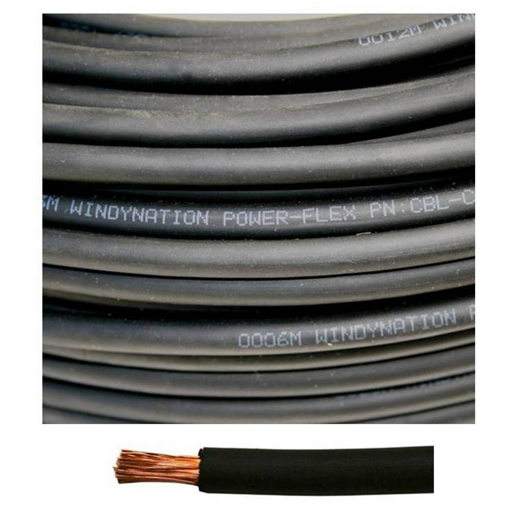 hight resolution of internet 307817808 windynation 8 gauge 8 awg 100 ft black welding battery pure copper flexible cable